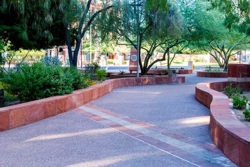 Streetscapes e costruzioni urbani a Phoenix del centro, AZ immagine stock libera da diritti