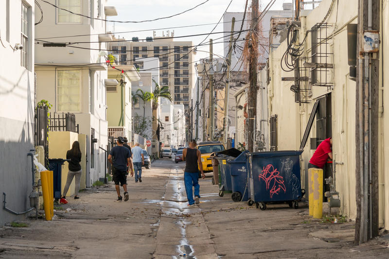 Streetscene Collins Ct i Miami Beach, Florida fotografering för bildbyråer