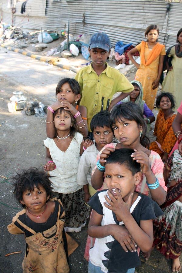 Streetside Beggar People stock image