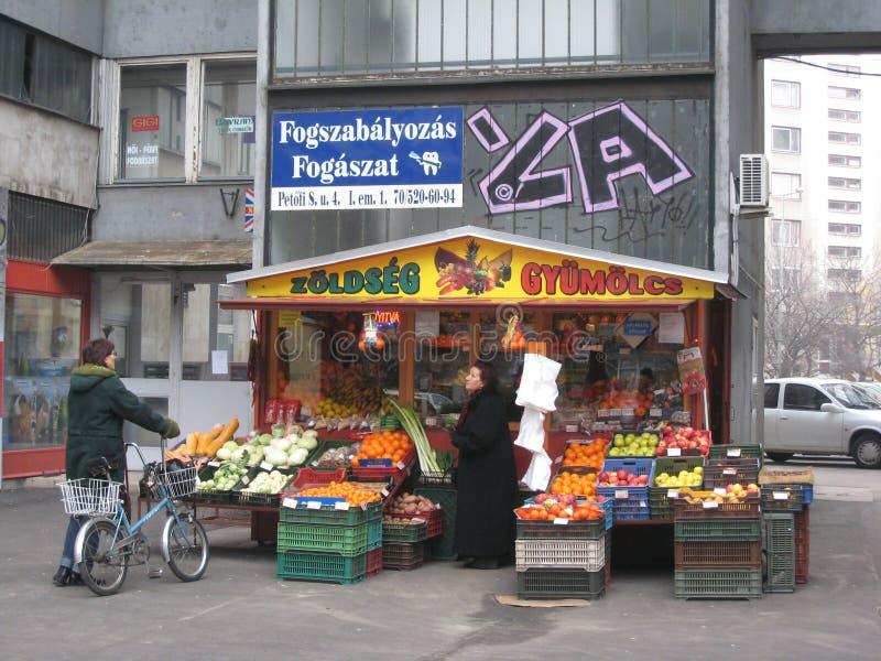 Streetstall, Kecskemet, Hongrie photos libres de droits