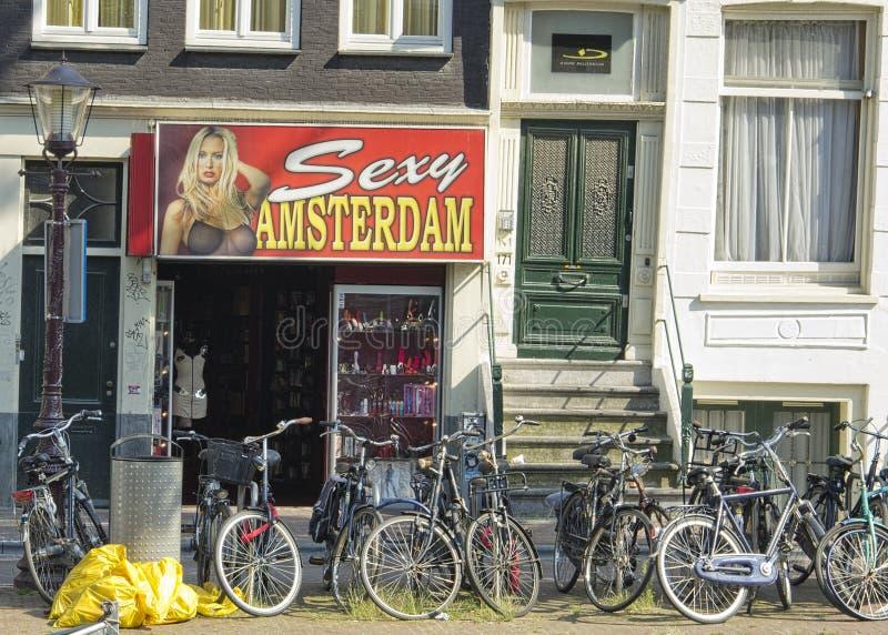 Streetview在阿姆斯特丹 免版税库存照片