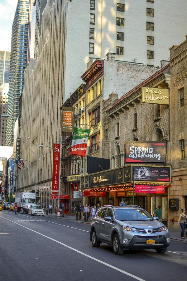 Streetview на улице Нью-Йорке W47th стоковое фото rf
