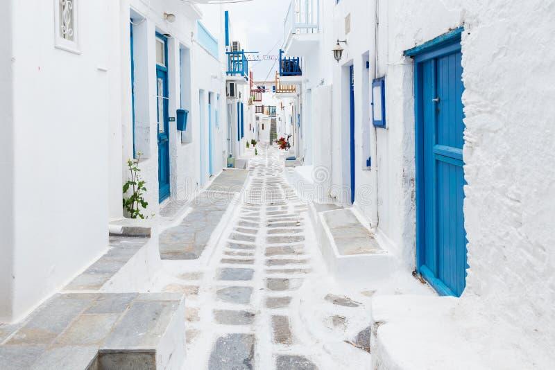 Streetview de Mykonos, Grèce photo libre de droits