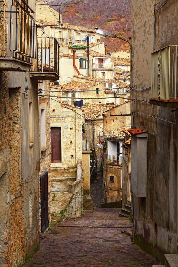 Streetview de San Donato di ninea imagem de stock royalty free