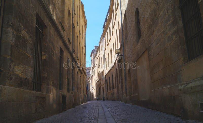 Streetview en Burdeos Francia fotografía de archivo libre de regalías