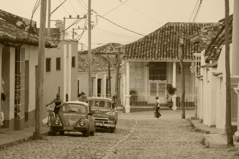 Streetview i Trinidad arkivbild