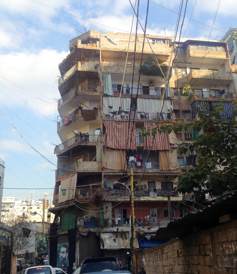 Streetview at lebanon beirut editorial photography image 71666847 - Houses with covered balconies ...