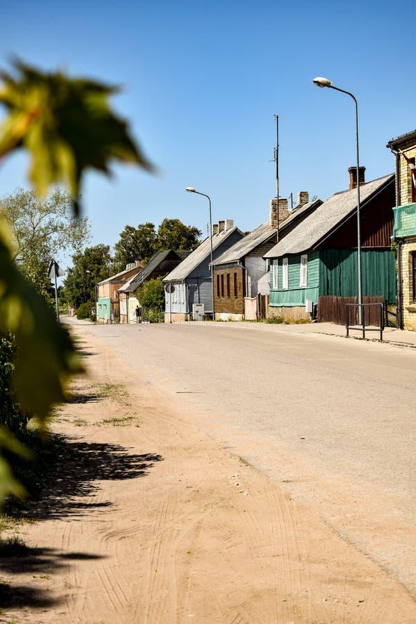 Streetview in Pavilosta, Kurzeme royalty-vrije stock foto's