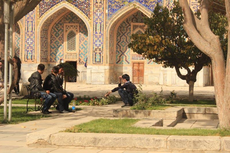 Streetview in Registan stock afbeeldingen