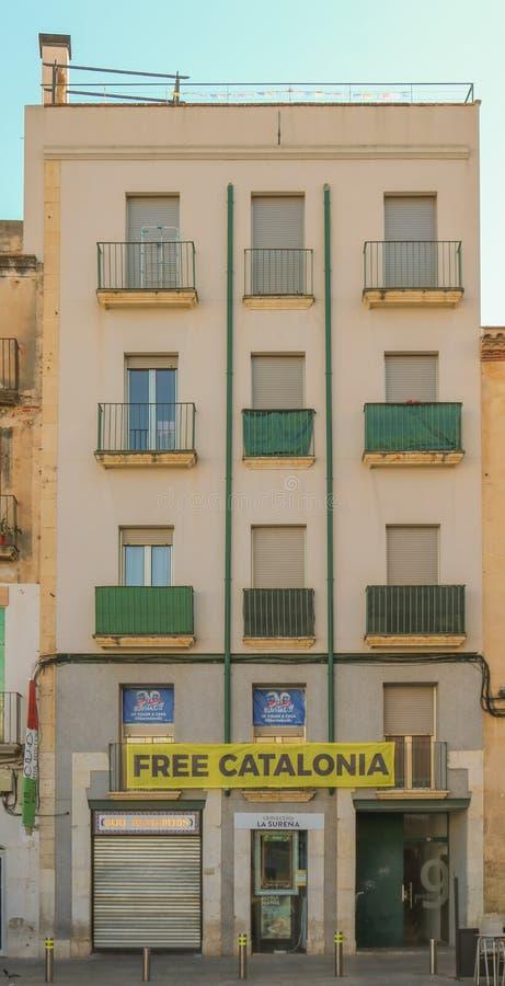 Streetview in Reus, Catalonië Spruit in Juni 2018 royalty-vrije stock afbeeldingen