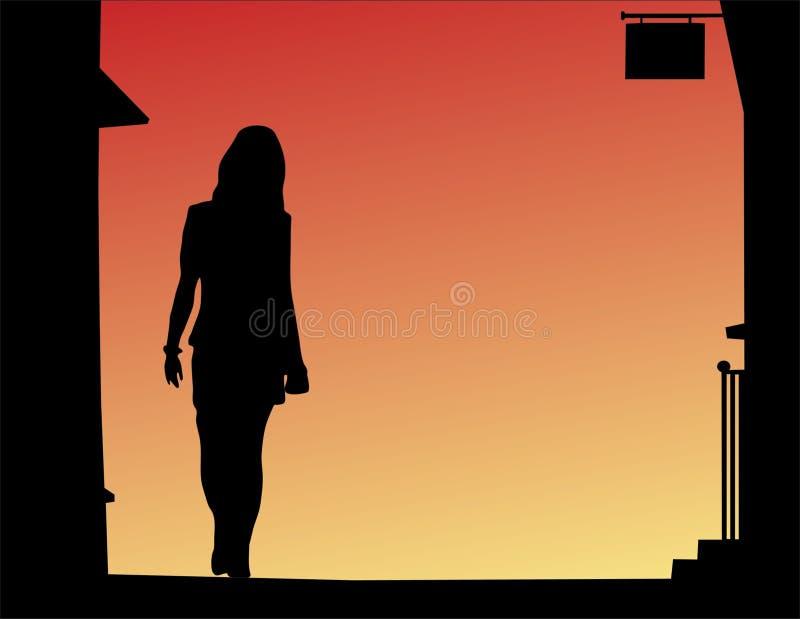 Streetwalker stock illustratie