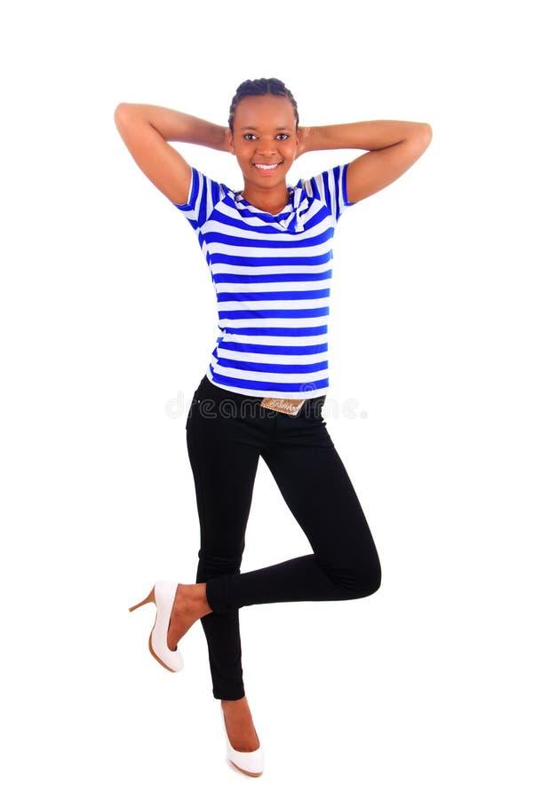 Strega africana della donna pattini high-heeled fotografie stock libere da diritti