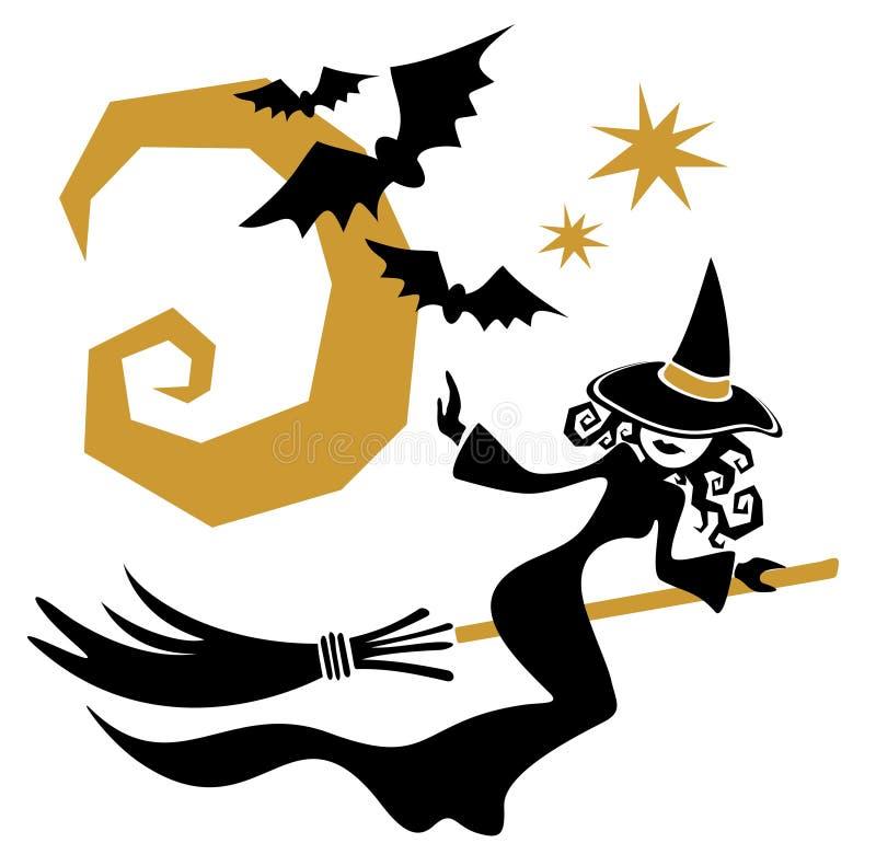 Strega di Halloween illustrazione vettoriale