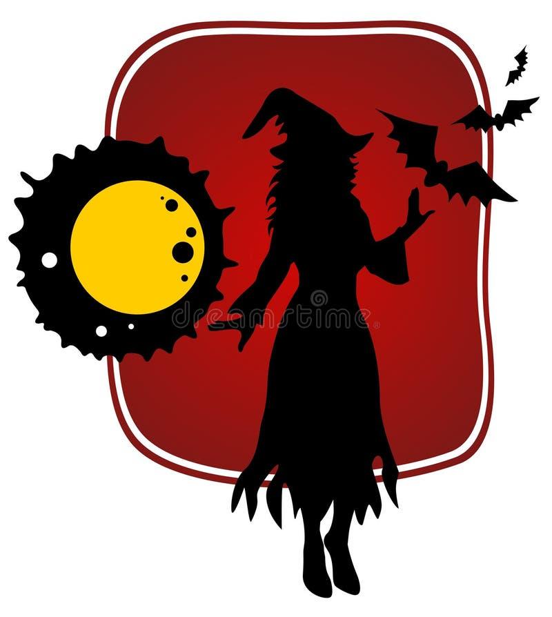 Strega di Halloween illustrazione di stock