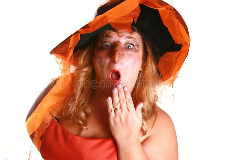 Strega spaventosa di Halloween fotografia stock libera da diritti