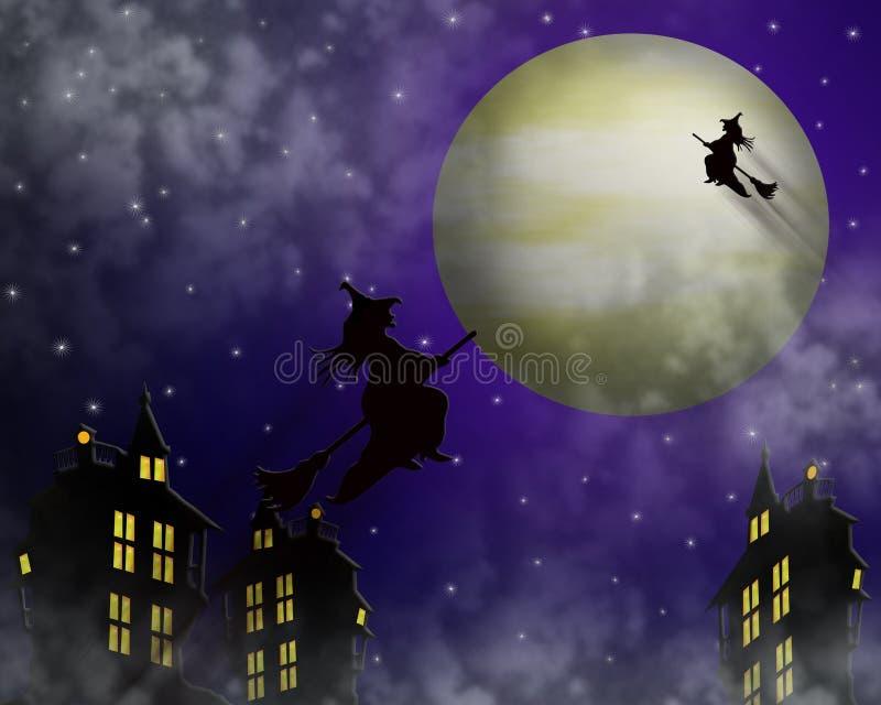 Streghe dell'illustrazione di Halloween illustrazione vettoriale