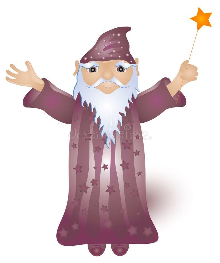 Stregone magico illustrazione di stock