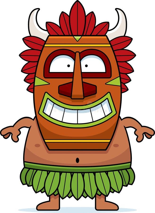 Stregone sorridente del fumetto illustrazione di stock