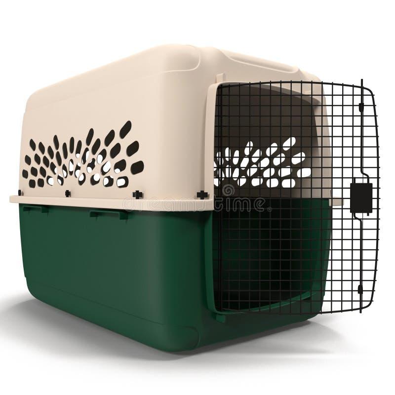 Streicheln Sie Fördermaschine für das Haustier, das auf weiße Illustration 3D reist stockfotografie