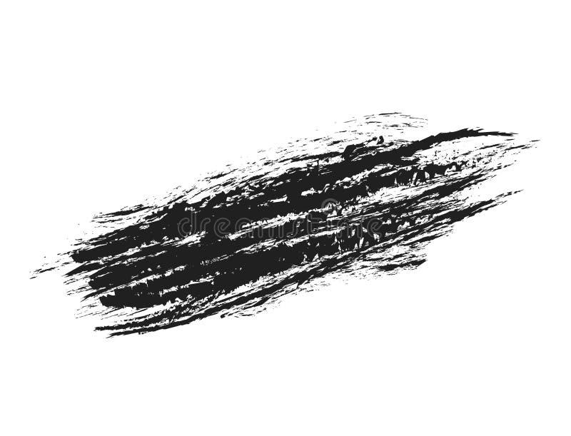Streichen Sie Probe der schwarzen Wimperntusche auf Weiß, Vektor illustra auf Lager lizenzfreie abbildung