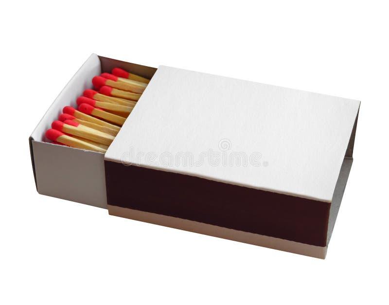 Streichholzschachtel mit rotem Match stockbilder