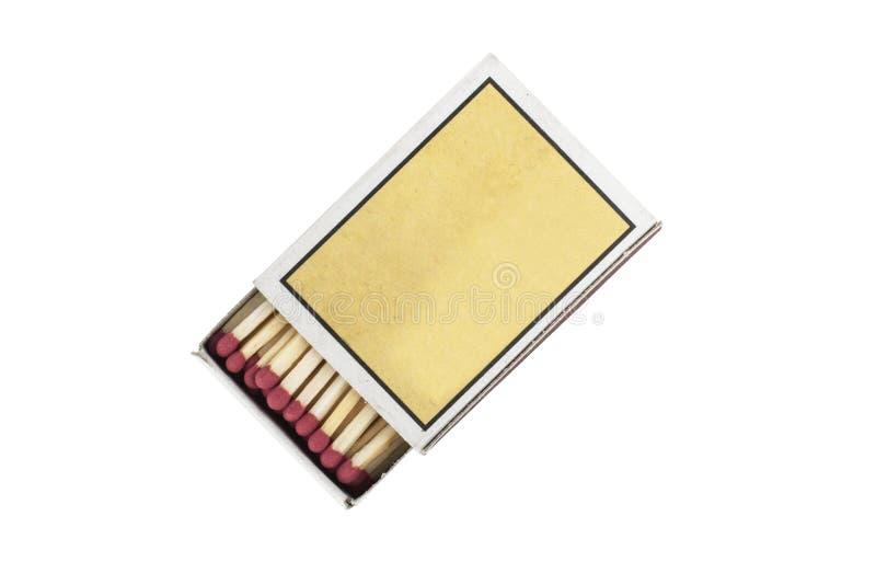 Streichholzschachtel und Match lokalisiert lizenzfreie stockfotos