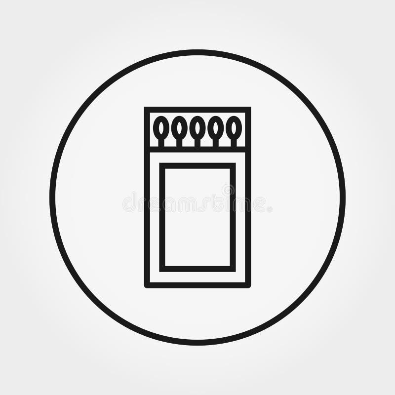 streichholzschachtel Universalikone Vektor Editable dünne Linie stock abbildung