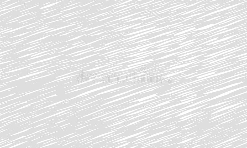 Streicht die graue Musterbeschaffenheit, die nahtloses Monochrom wiederholt dünne Linien einfarbiges schwarzes Weiß Hand gezeichn vektor abbildung