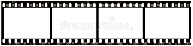 Streifen des 35mm Filmes lizenzfreies stockbild
