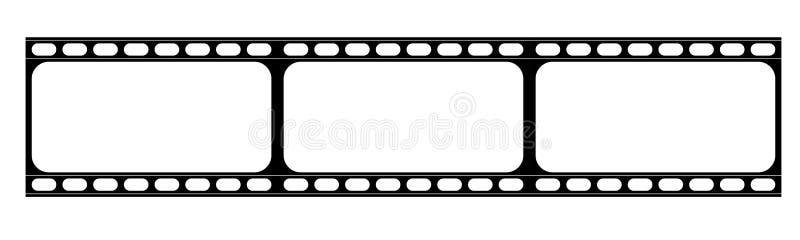 Streifen des abstrakten Filmes oder alter Kamerafilm stock abbildung
