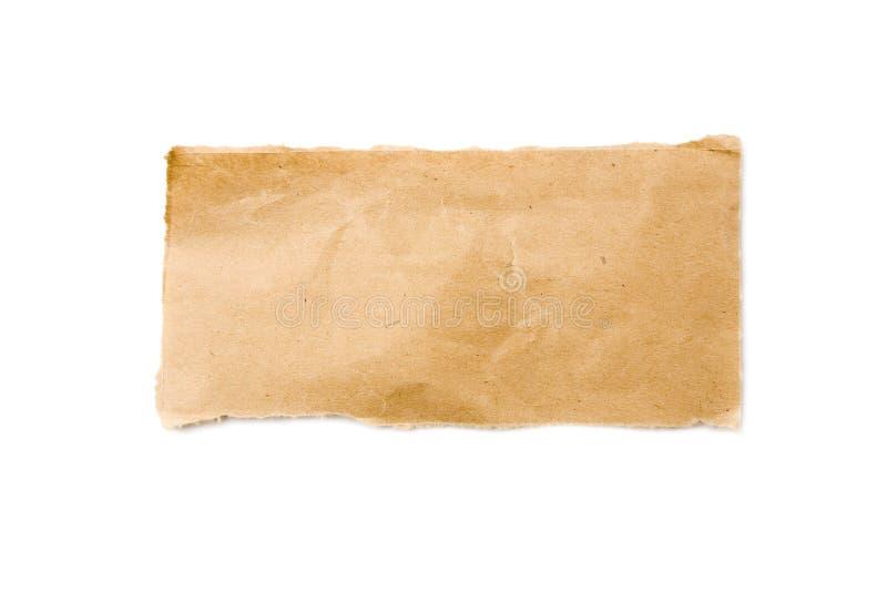 Streifen des Brown-verpackenpapiers lizenzfreie stockfotos