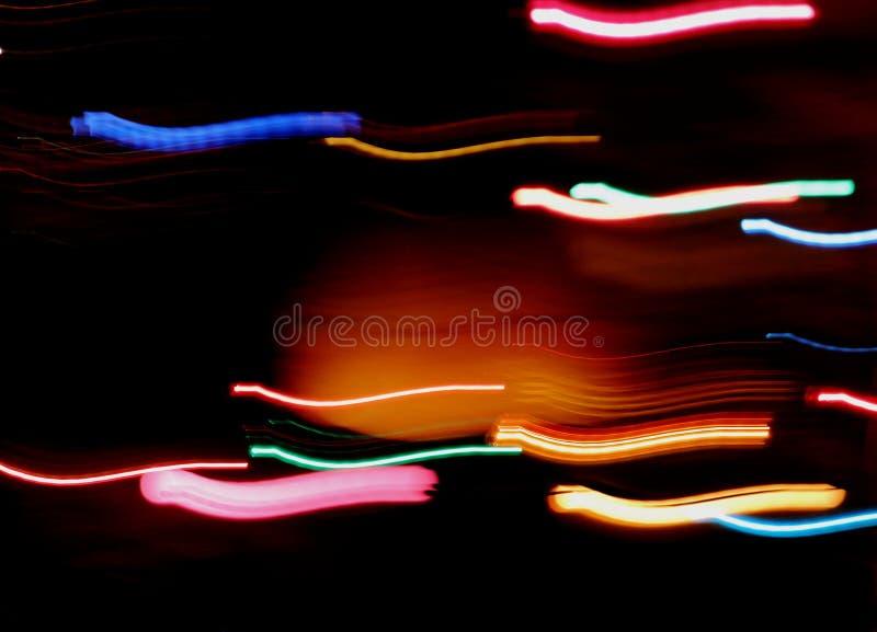 Streifen des bunten Lichtes stockbilder