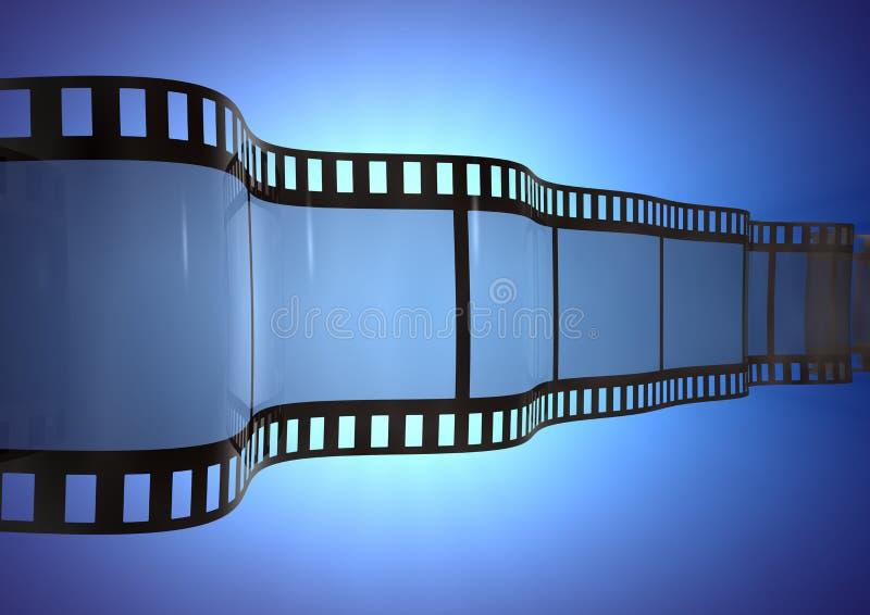 Streifen des Film-3d lizenzfreie abbildung