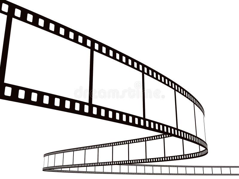 Streifen des fotographischen Filmes lizenzfreie abbildung