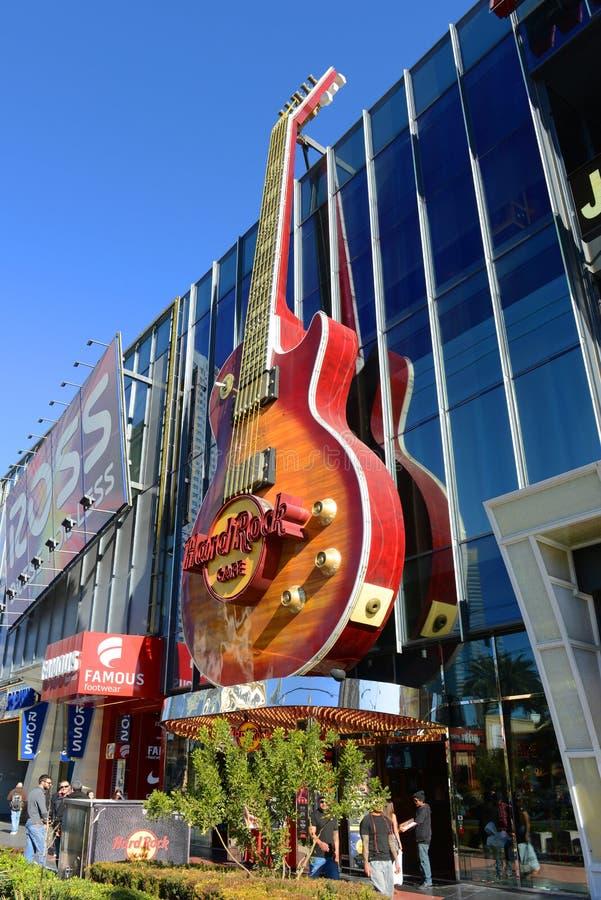 Streifen Hard Rock Cafe Las Vegas, Las Vegas, Nanovolt stockfotografie