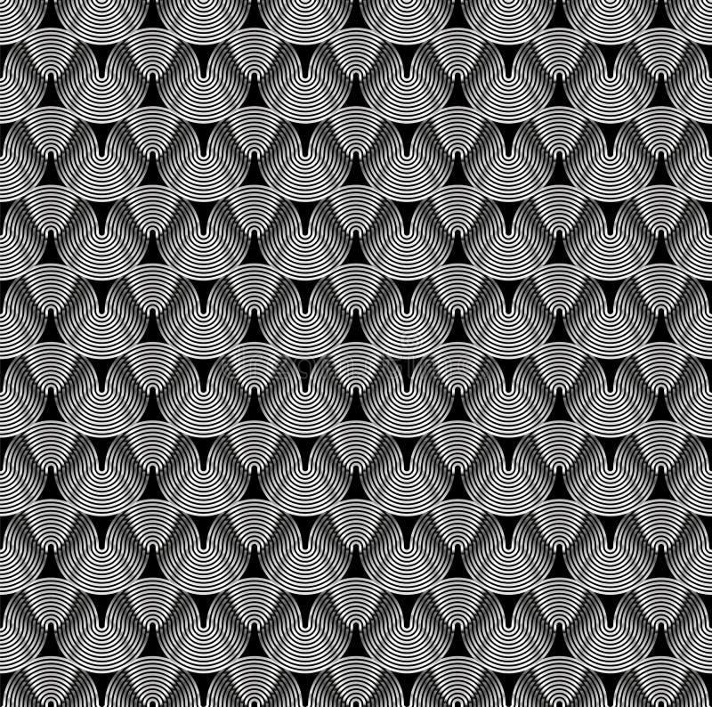 Streifen oder Draht gemacht vom Metall, schimmernd im Licht Dunkler technischer Hintergrund vektor abbildung