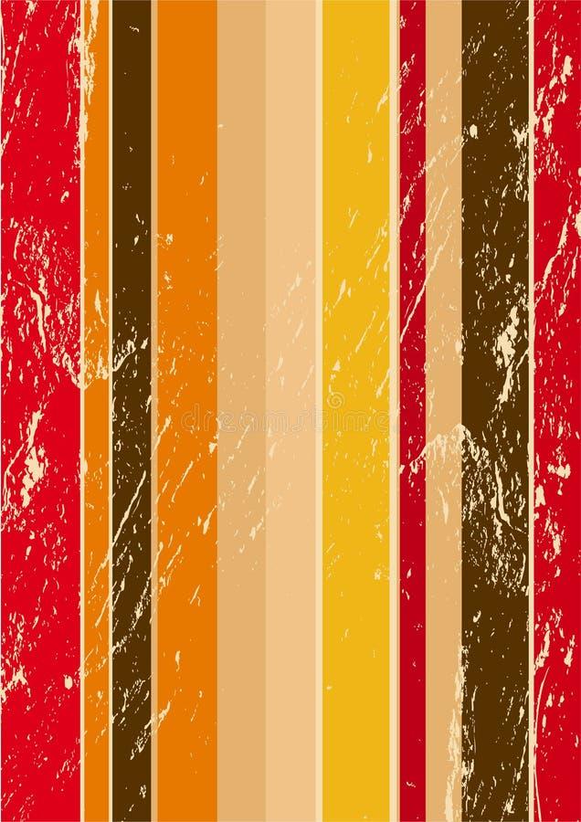 Streifen Retro- grunge Hintergrund vektor abbildung