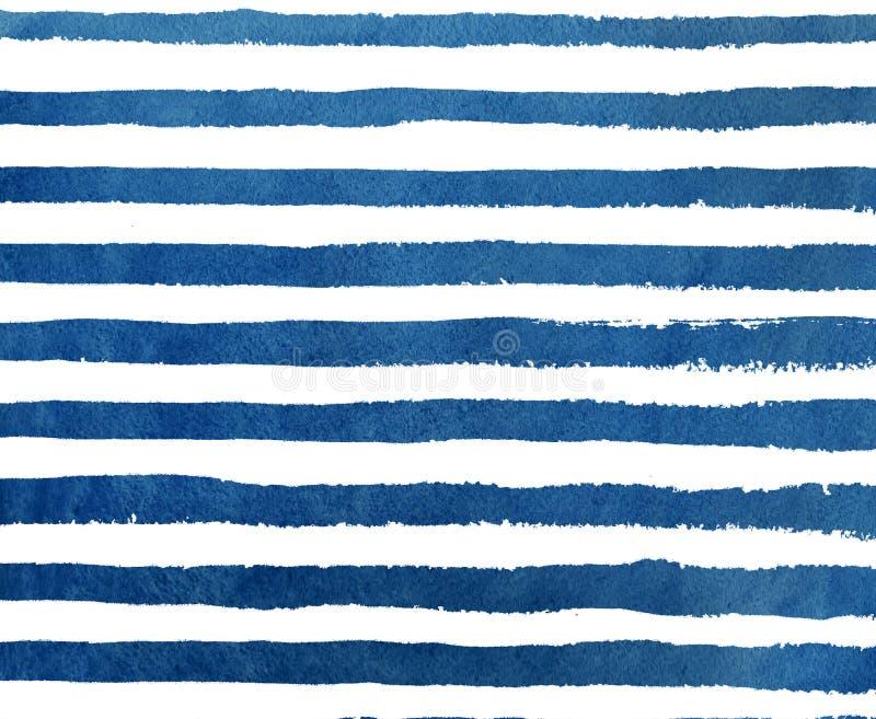Streifen-Schmutzmuster des Aquarells dunkelblaues vektor abbildung