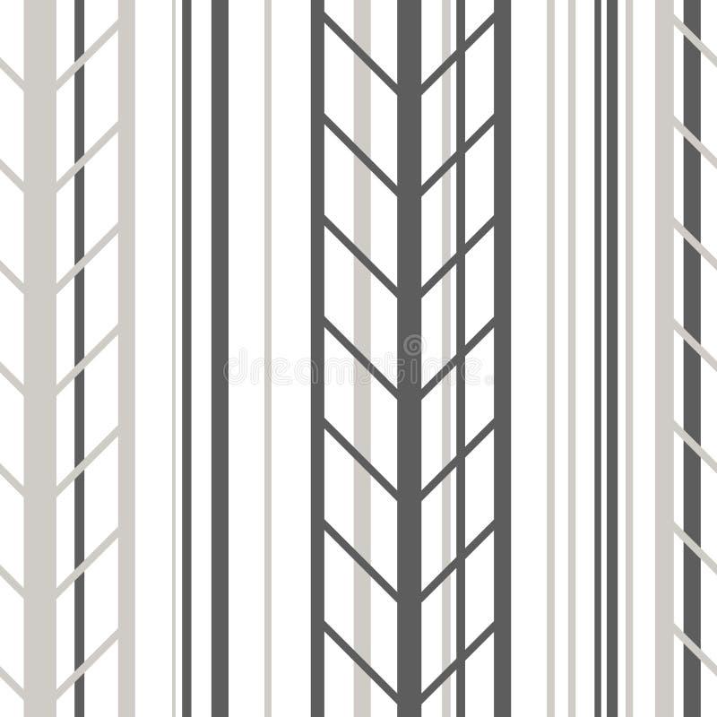 Streifen Sie nahtlose graue und weiße Linie Farbvektorillustration des Musters lizenzfreie abbildung