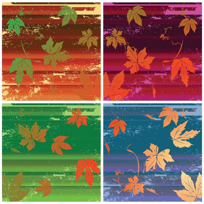 Streifen und Blätter lizenzfreie abbildung
