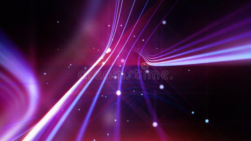 Streifen von glänzenden purpurroten Linien als abstrakter Hintergrund stock abbildung