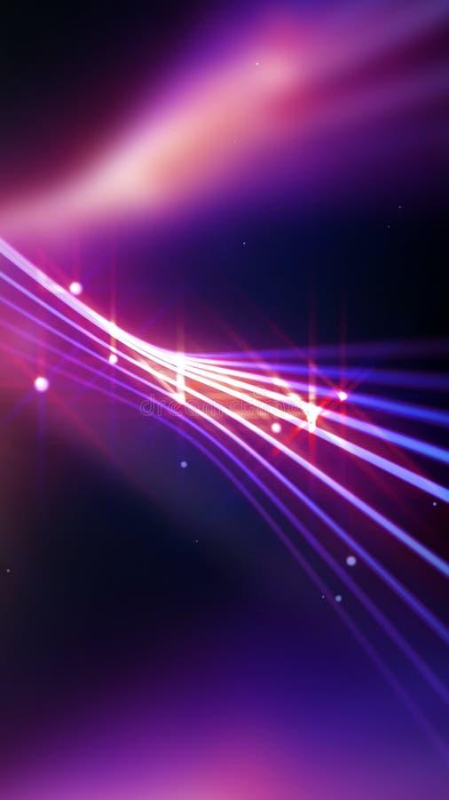 Streifen von glänzenden purpurroten Linien als abstrakter Hintergrund lizenzfreie abbildung
