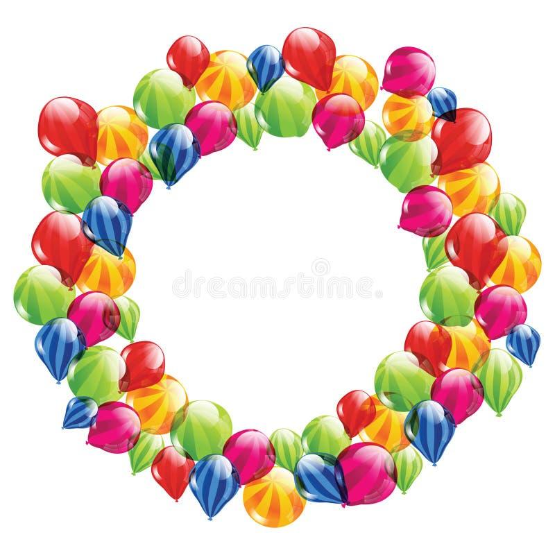 Streifenballone im Kreis vektor abbildung