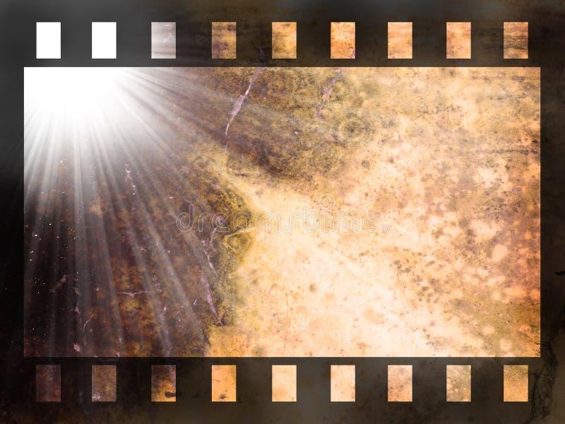 Streifenhintergrund des abstrakten Filmes vektor abbildung