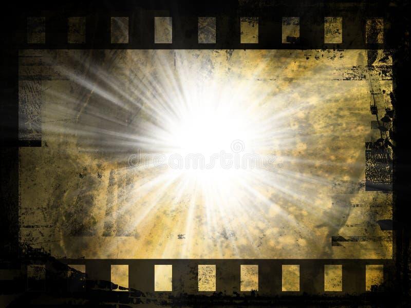 Streifenhintergrund des abstrakten Filmes lizenzfreie abbildung