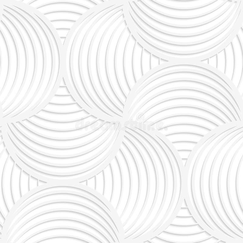 Streifenkreisstift des Weißbuches 3D dünner wird es tun lizenzfreie abbildung