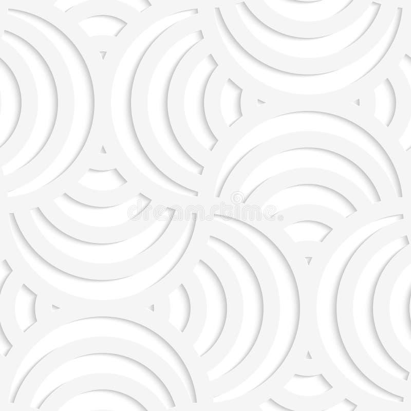 Streifenkreisstift des Weißbuches 3D vier wird es tun vektor abbildung