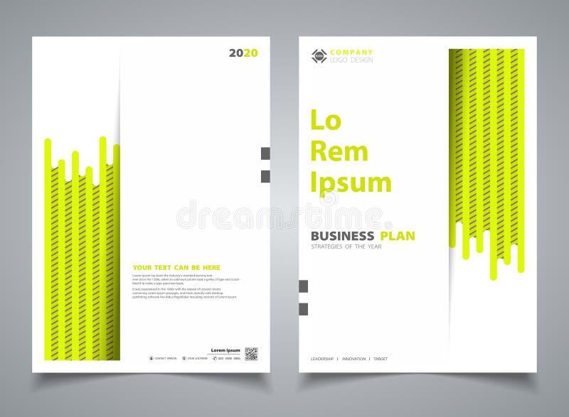 Streifenlinie Entwurfsschablonendekoration der Zusammenfassungsbroschüre neue grüne Farb Illustrationsvektor eps10 vektor abbildung