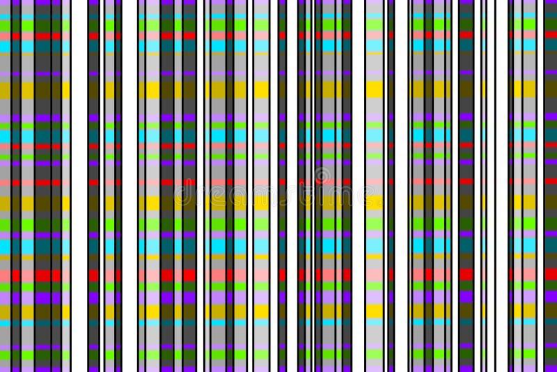 Streifenmuster mit hellen Farben vektor abbildung