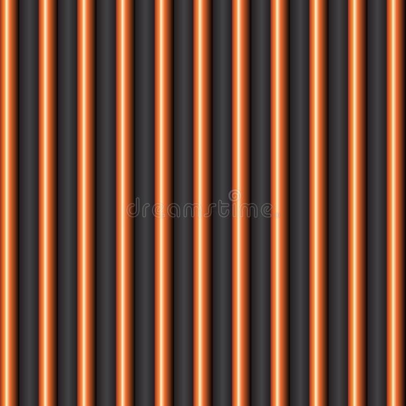 Streifenraumhalloween-Mustervektor lizenzfreie abbildung
